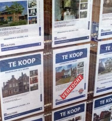 In september 20 procent minder huizen verkocht dan jaar eerder