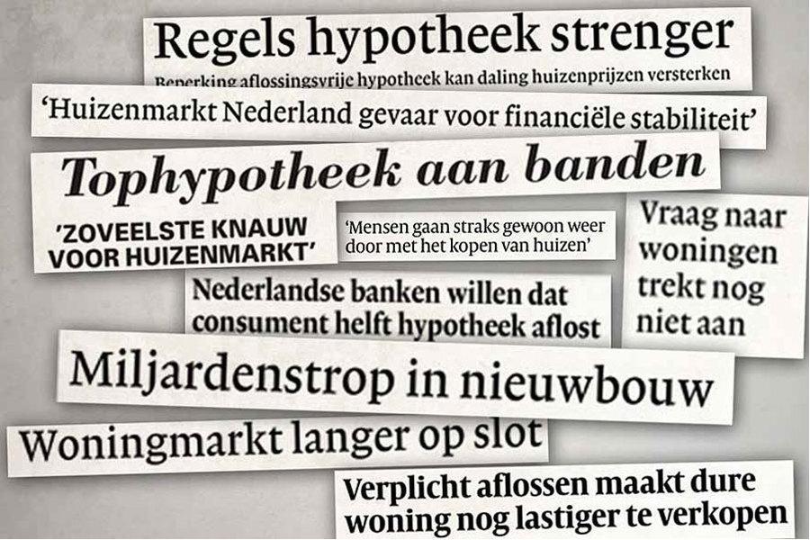 Onderzoek: Nieuwsmedia spelen rol in prijzen Nederlandse woningmarkt
