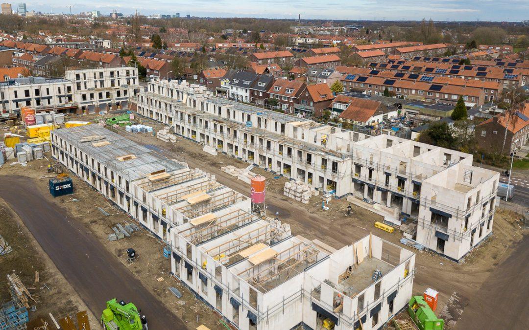 Grootste groei van aantal nieuwbouw woningen sinds 2009